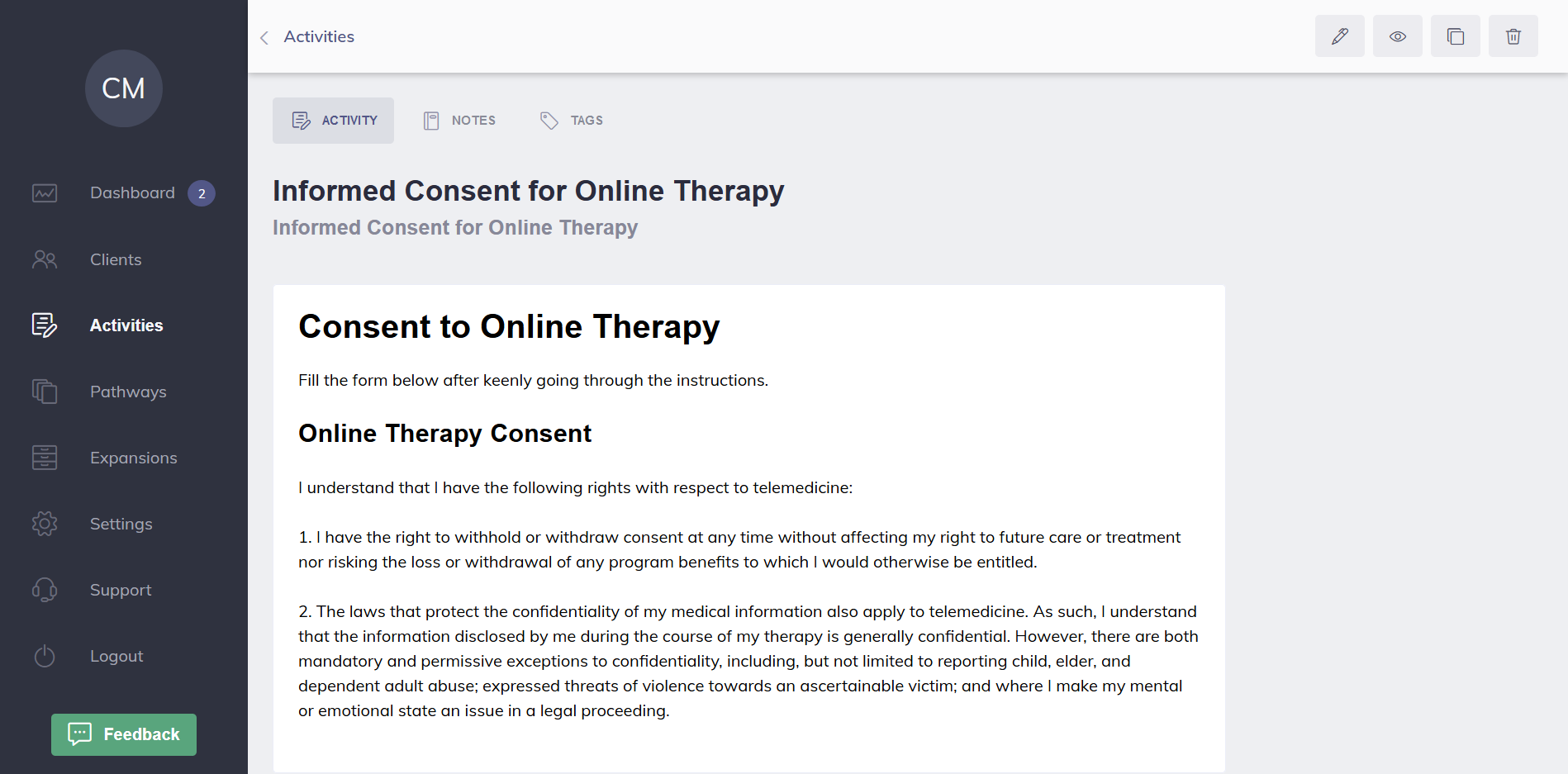 Informed Consent Example Quenza