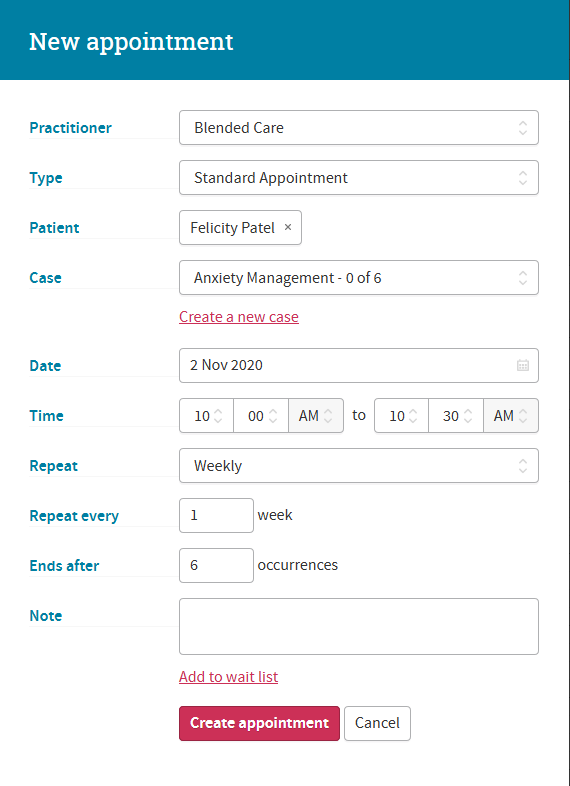 Cliniko Review Appointment Scheduling