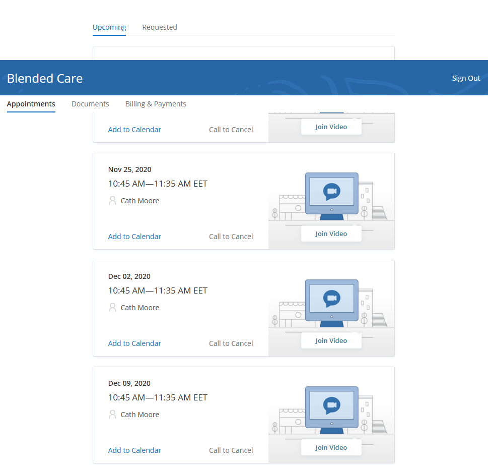 SimplePractice Review Client Portal Appointments