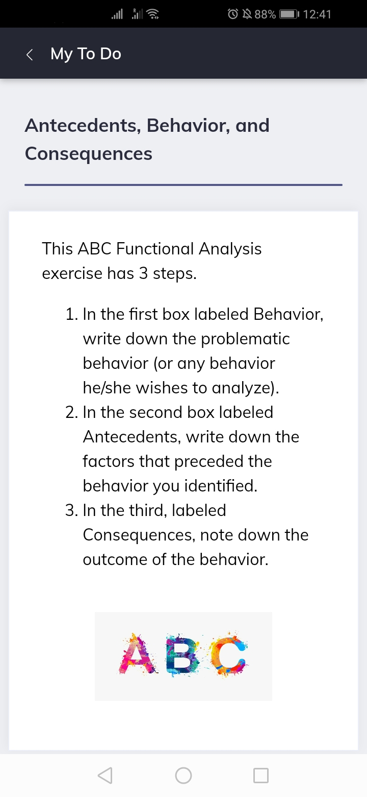ABC Analysis E-mental health Quenza Example