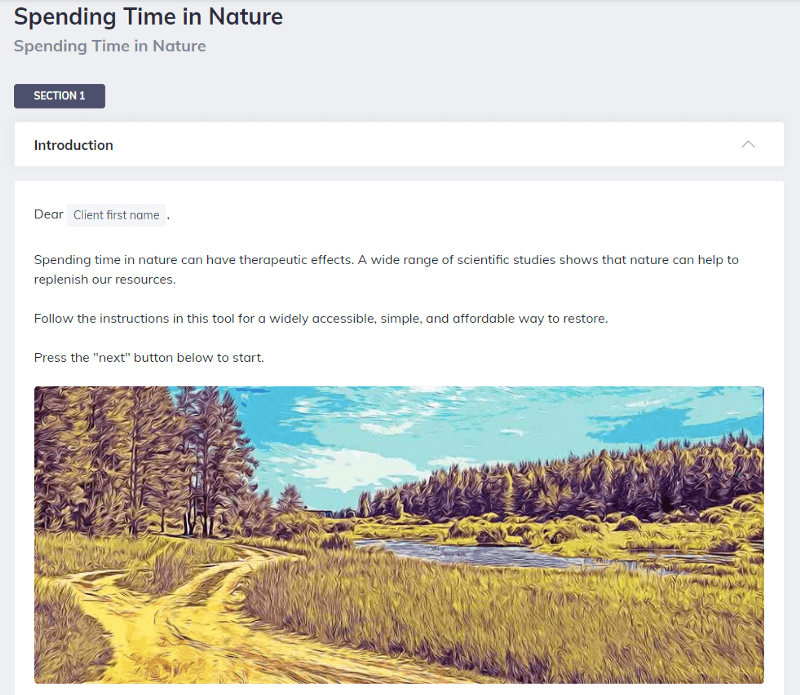 Time in Nature Blended Learning Approach Quenza