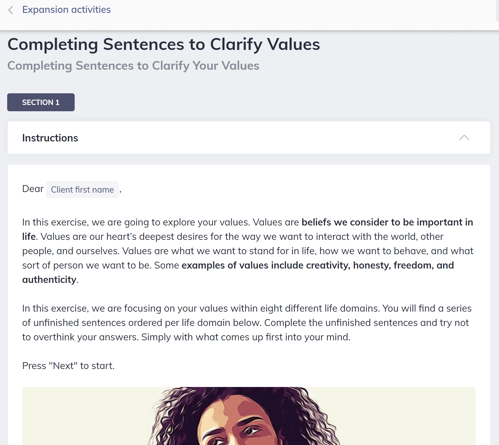 Completing Sentences to Clarify Values Confidence Coaching Tools
