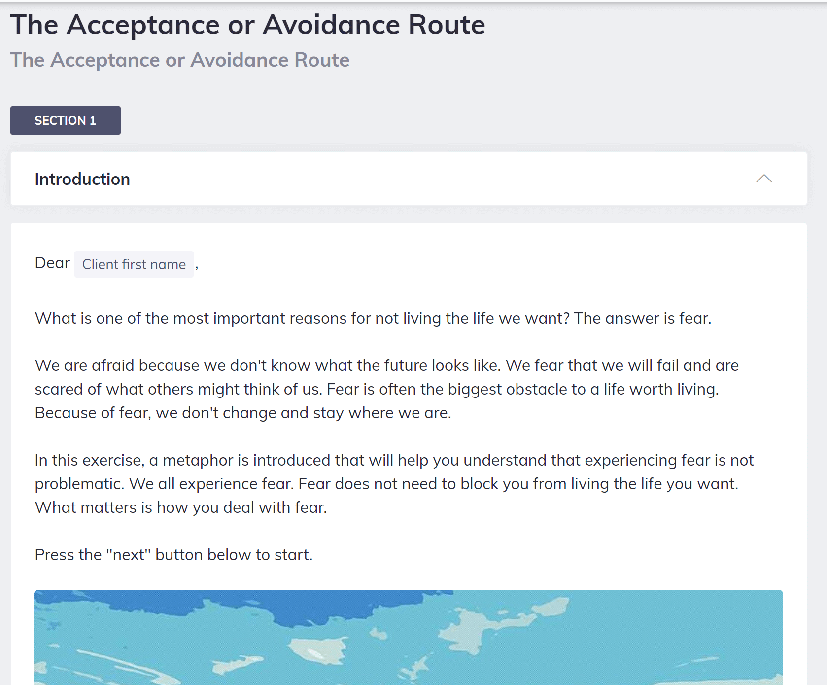 The Acceptance or Avoidance Route Confidence Coaching