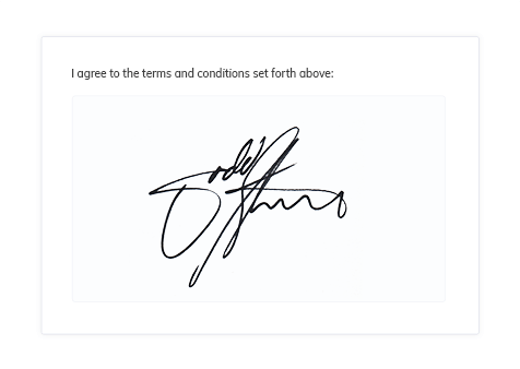 Clients can sign your legal documents by drawing an electronic signature.