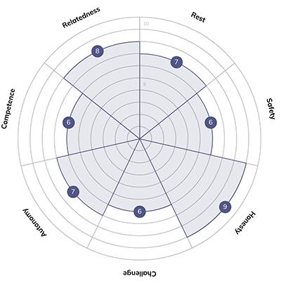 Quenza Wheel of Needs example